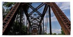 Railroad Bridge 6th Street Augusta Ga 2 Beach Towel