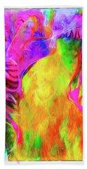 Rainbow Blossom Beach Towel
