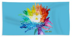 Rainbow Chrysanthemum Beach Towel