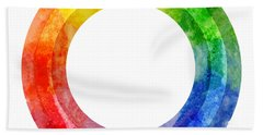 Rainbow Color Wheel Beach Towel