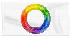 Rainbow Color Wheel Beach Sheet