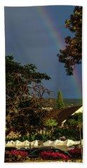Rainbow Ended At The Church Beach Sheet