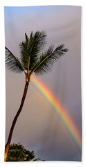Rainbow Just Before Sunset Beach Towel