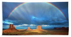 Rainbow Over The Mittens Afternoon Beach Towel