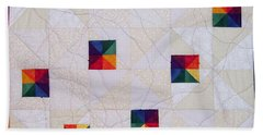 Rainbow Pinwheel Beach Sheet