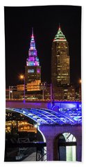 Rainbow Tower In Cleveland Beach Towel