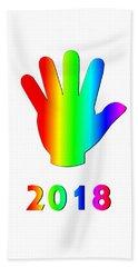 Rainbow Wave Beach Sheet