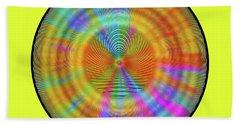 Beach Towel featuring the digital art Rainbwow Sun by Visual Artist Frank Bonilla