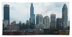 Raleigh Skyline Photo 16 X 20 Ratio Beach Towel