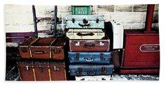 Ramsbottom.  Elr Railway Suitcases On The Platform. Beach Sheet