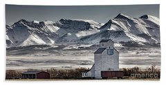 Beach Towel featuring the photograph Ranchland Elevator by Brad Allen Fine Art