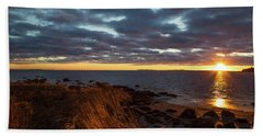 Randall Point Sunset At Barn Island - Stonington Ct Beach Towel
