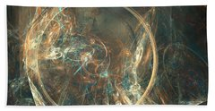 Beach Towel featuring the digital art Raquette River by Jeff Iverson