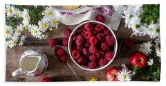 Raspberry Breakfast Beach Towel