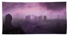 Rave In The Grave Beach Towel