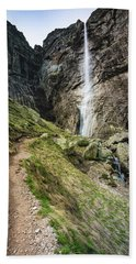 Raysko Praskalo Waterfall, Balkan Mountain Beach Sheet