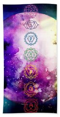 Beach Towel featuring the digital art Reach Out To The Stars by Bee-Bee Deigner
