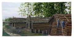 Rebel Huts, Port Hudson, Louisiana 1863 Beach Towel