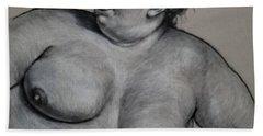 Reclining Nude  Beach Sheet