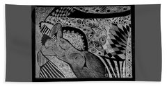Reclining With Pillows Beach Towel