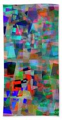 Beach Towel featuring the digital art Red Alert by Edmund Nagele