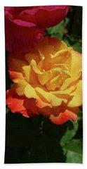 Red And Yellow Rio Samba Roses Beach Towel
