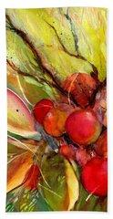 Red Autumn Berries Beach Towel