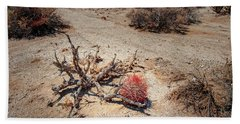 Red Barrel Cactus Beach Towel