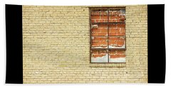 Red Brick Window  Beach Towel