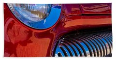 Red Car Chrome Grill Beach Towel
