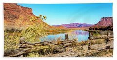 Beach Towel featuring the photograph Red Cliffs Canyon by David Morefield