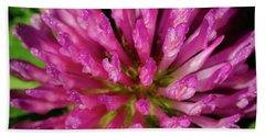 Red Clover Flower Beach Sheet