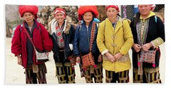 Red Dao Woman From Sa Pa, Vietnam Beach Towel