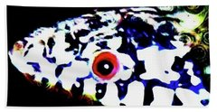 Beach Towel featuring the photograph Red-eyed Snake by Judy Kennedy