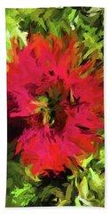 Red Flower Flames Beach Towel