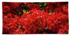 Red Flowers Beach Sheet