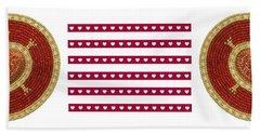 Red Heart Beach Sheet