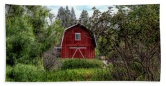 Red House Over Yonder Beach Towel
