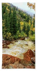 Red Mountain Creek In San Juan Mountains Beach Sheet