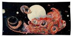 Red Nebula Beach Towel