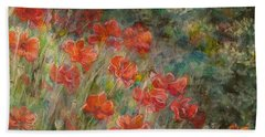 Red Poppies Beach Sheet