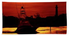 Red Sky  Beach Towel