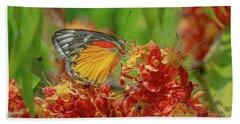 Beach Towel featuring the photograph Red-spot Jezebel Butterfly Dthn0236 by Gerry Gantt