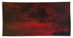 Red Storm Beach Towel
