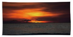 Beach Towel featuring the photograph Red Sunrise by Lora J Wilson