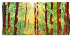 Redwoods And Sunshine Beach Towel