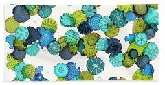Beach Towel featuring the painting Reef Encounter #5 by Kathryn Riley Parker