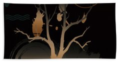 Night Reflections  Beach Towel