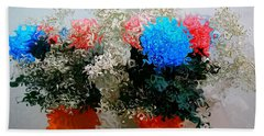 Reflection Of Flowers In The Mirror In Van Gogh Style Beach Towel