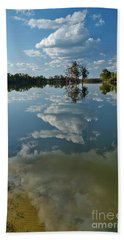 Reflections By The Lake Beach Towel
